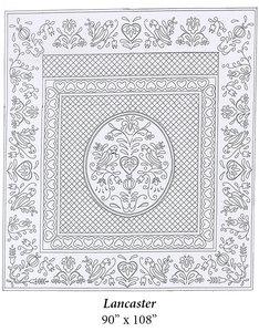 Wholecloth Quilt Top Lancaster Wit