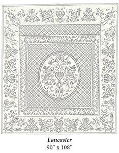 Wholecloth Quilt Top Lancaster naturel