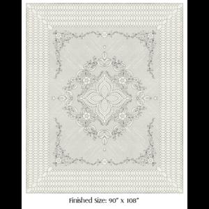 Wholecloth Quilt Top Garden Bouquet naturel