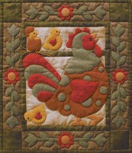 Spotty Rooster, compleet pakket miniquilt