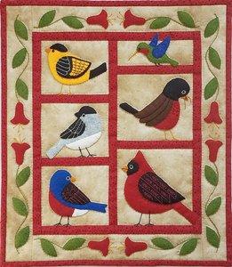 Backyard Birds Wall Quilt, compleet pakket miniquilt