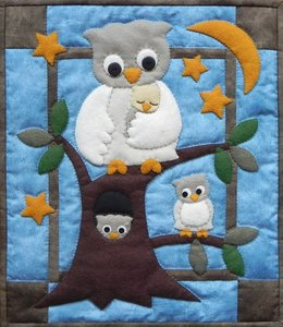 Owl Family Wall Quilt, compleet pakket miniquilt