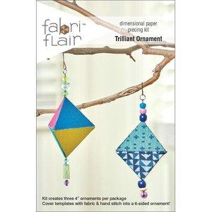 Fabri Flair Trilliant Ornament dimensional paper piecing kit