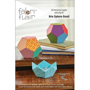 Fabri Flair Brio Sphere-Small dimensional paper piecing kit