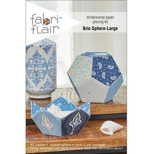 Fabri Flair Brio Sphere-Large dimensional paper piecing kit