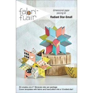 Fabri Flair Radiant Star-Small dimensional paper piecing kit