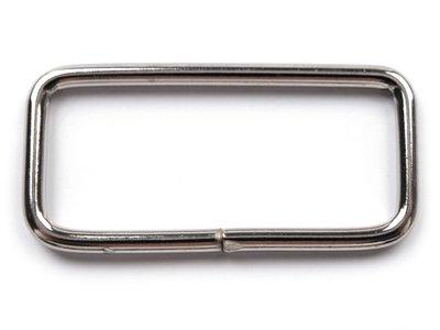 Vierkante ring 39 mm nikkel