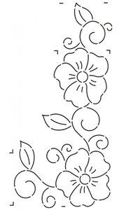 Quilt Stencil Flower & Swirls Border