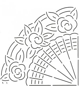 Quilt Stencil Grandmother's Fan