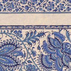 Dutch Heritage Gujarat randstof ecru blauw