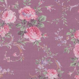 Quilt Gate RURU Bouquet paars roze roos middel