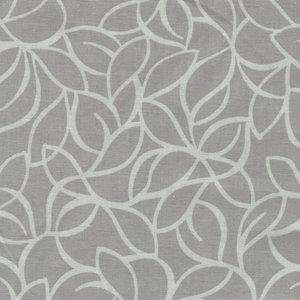Blank Quilting Corp. grijs met wit bladmotief dubbelbreed