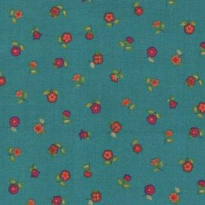 Andover/Makeower Bloom petrolblauw bloemetje