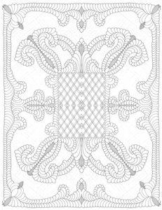 Marcus Fabrics wit op wit paneel babyquilt